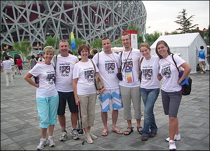 Margaret Parsons sent in this photo of the family of Britain's Tom Parsons