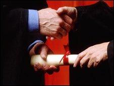 commencement handshake