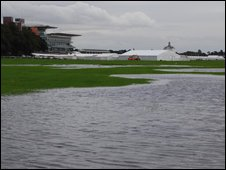 The flooded Knavesmire
