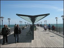 The view down Boscombe Pier