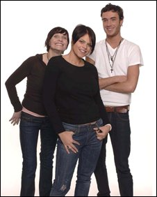 Jade Goody with mother Jackiey Budden and boyfriend Jack Tweedy
