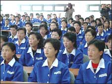 Workers in the Kaesong special economic zone receive training (pic courtesy Dieter Schmitt)