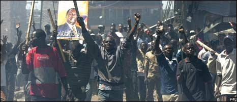Scenes of unrest in Kenya