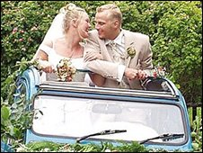 Margrete Johansen's 2CV was used as a wedding car