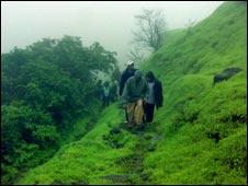 Trekkers near Mumbai