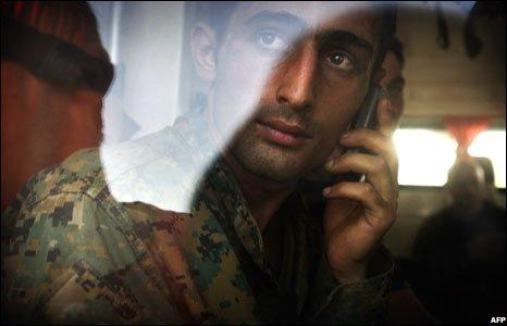 A Georgian soldier, 19 August 2008