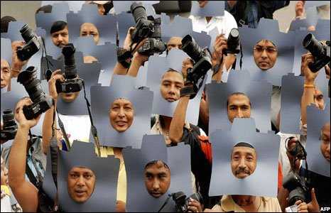 Nepalese photographers and photojournalists, 19 August, 2008