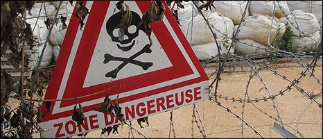 Skull and cross bones danger sign