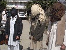Arrested militants in Pakistan
