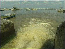 Sewage outflow in Gaza