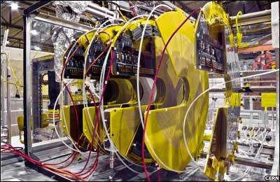 Totem experiment, part of the Large Hadron Collider at CERN