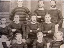 Wrexham team 1878: Pic courtesy of Gareth Davies