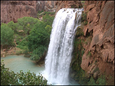Waterfall in the Grand Canyon
