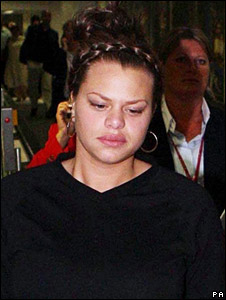 Jade Goody arrives back in the UK