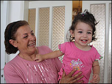 Justina Zorab and her grandmother