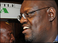 John Githongo arriving at Jomo Kenyatta Airport
