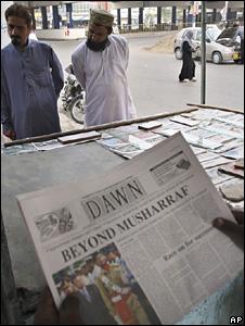 Pakistan newspaper seller