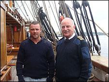 Bo'sun Daithi Dempsey and Captain Dermot Kavanagh
