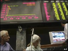 The Karachi stock exchange