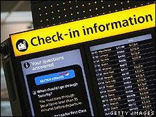 Departure board at Heathrow