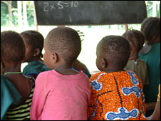 Pupils at a school in Sierra Leone (Photo sent in by BBC News website reader Warren Swords)
