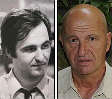 Ondrej Neff in 1966 (left) and today