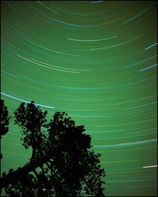 Time-lapse shot of night sky, Eyewire