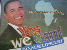 The advert placed by Africans for Obama
