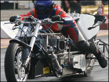 Top-fuel drag bike (Dick Parnham)