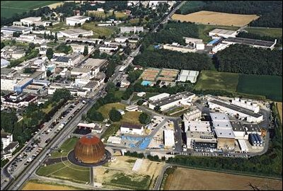 Aerial view of CERN site