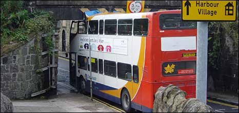 Stagecoach bus after the accident