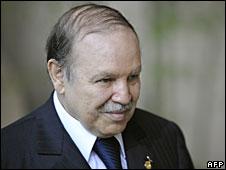 File photo of Abdelaziz Bouteflika in Tokyo, 7 July 2008