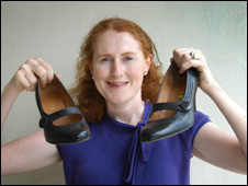 Margaret Ryan with her pair of shoes