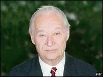 Alexander Dubcek, foto tomada en enero de 1990.