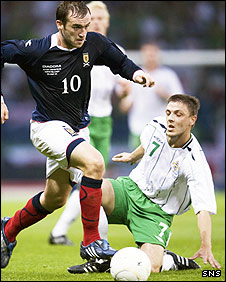 James McFadden in action for Scotland at Hampden