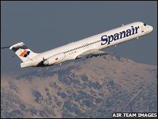 A Spanair MD82 plane (file image)