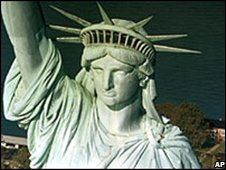 The Statue of Liberty, New York's historical landmark for immigrants