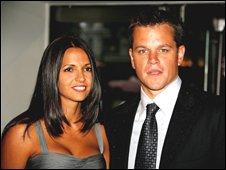 Matt Damon with wife Isabella