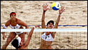 Misty May-Treanor (left) and Kerri Walsh  in action against China