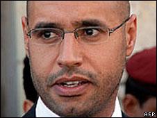 Sayf al-Islam Gaddafi, son of Libyan leader Muammar Gaddafi