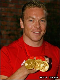 Triple Beijing Olympic gold medallist Chris Hoy