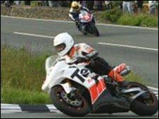 Rider in IOM TT
