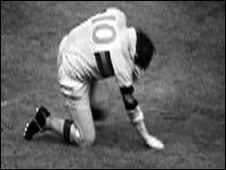 Don Fox after missing his kick in 1968