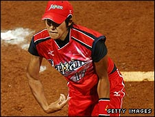 Japan pitcher Ueno was the star performer in the softball final