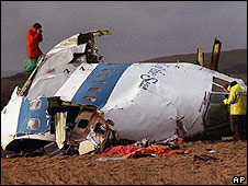 Lockerbie crash scene 1988