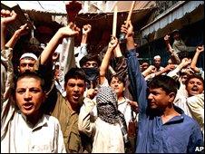 Supporters of the Pakistani Taleban