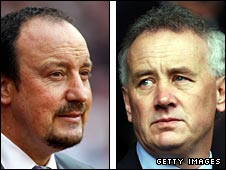 Liverpool manager Rafael Benitez (left) and chief executive Rick Parry