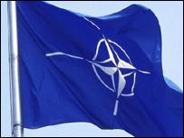 Сине-белый флаг НАТО