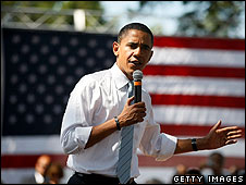 Barack Obama on the campaign trail on 21 August in Chester, Virginia