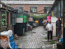 The grandmothers' brick homes
